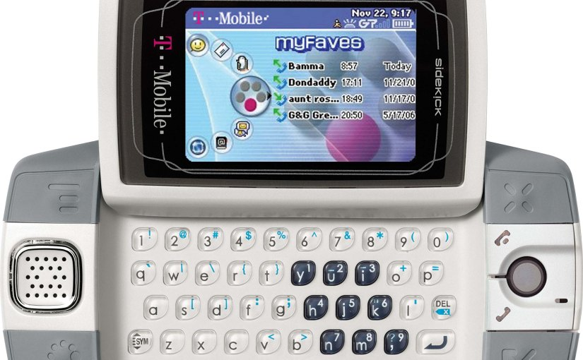 No. 58: Do You Remember the T-Mobile Sidekick?